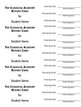 Report Cards Package