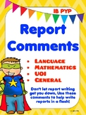 Report Comments