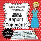 Report Comments - Grade 1/2 - High Quality Original! - US