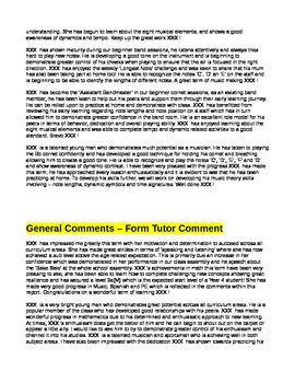 Report Comments for Year 3/4 or 2nd & 3rd Grade