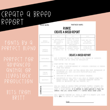 Report: Create A Breed