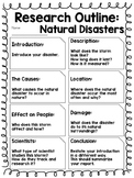 Report Outline: Natural Disasters