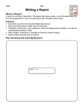 Report Plan, Proofreading & Assessment Checklists