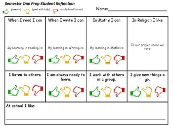 Report Prep/Foundation Student Reflection