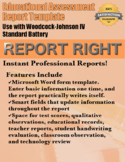 Report Right - Assessment Report Template (Woodcock-Johnso