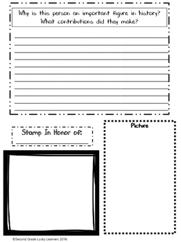 report template black history month by second grade lucky learners