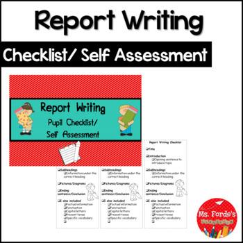 Report Writing  (Informational) Checklist FREEBIE