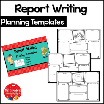 Report Writing (Informational) Planning Templates