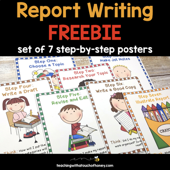Informational Writing | Report Writing | Posters | FREEBIE
