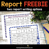 Report Writing Rubrics FREEBIE