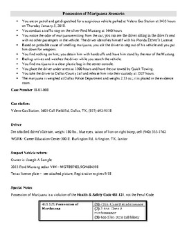 Report Writing Scenarios U0026 Police Report Templates