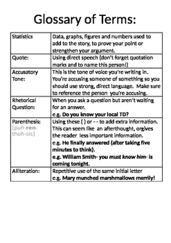 Report Writing Terms