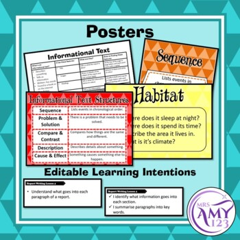 Report Writing Unit (Informational Texts) -Year 3 and 4- Aligned with ACARA