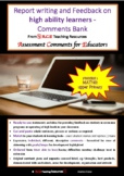 Report Writing and Feedback Comment Bank - MATHS: FREEBIE no 4!