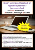 Report Writing and Feedback Comments Bank - English: FREEBIE 1!