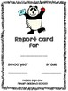 Report card envelope covers and comments