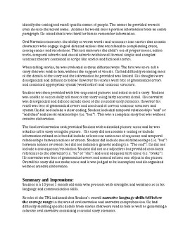 Speech Therapy-TNL-Test of Narrative Language Report Template