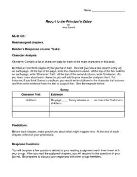 Report to the Principal's Office Activity Packet