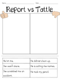 Report vs. Tattle Sort