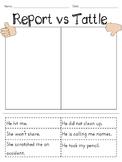 Report vs. Tattle Sort