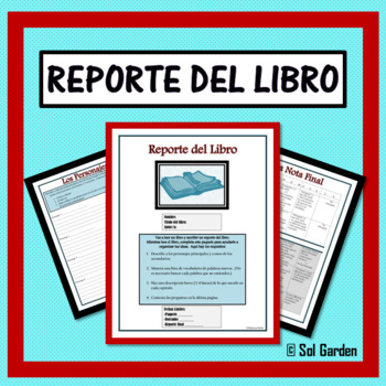 Reporte del Libro - Book Report Guide for Spanish III and IV