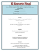 Reporte del Libro - Book Report Guide for Spanish III and IV