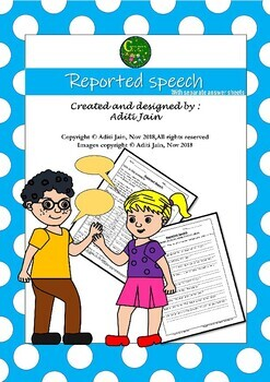 Reported Speech Direct to Indirect Exercises NO PREP with Answers