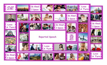 Reported Speech Legal Size Photo Board Game
