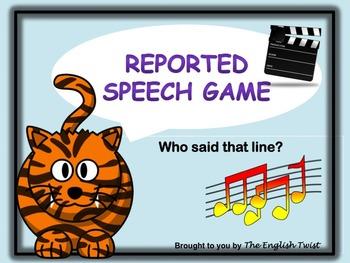 Reported Speech NO PREP Grammar Game