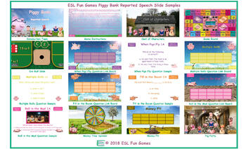 Reported Speech Piggy Bank English PowerPoint Game