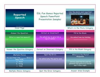 Reported Speech PowerPoint Presentation