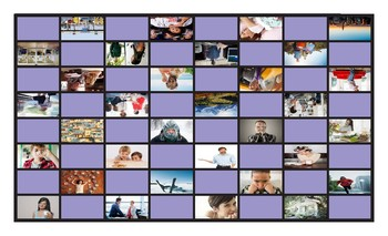 Reported Speech Spanish Legal Size Photo Checkers Game