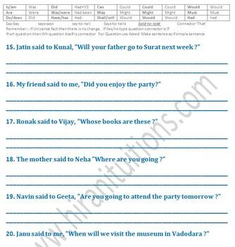 Reported speech (Indirect speech) part 2 of 4