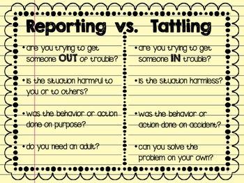 Reporting Versus Tattling