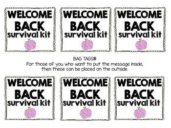 Welcome Back Survival Kit