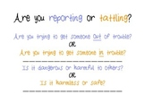 Reporting Vs. Tattling