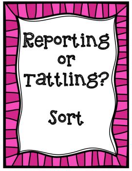 Reporting or Tattling Sort