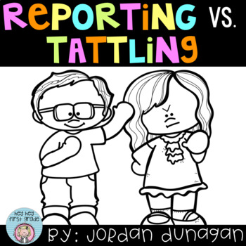 Reporting vs. Tattling