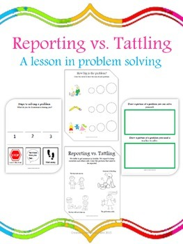 Reporting vs. Tattling: A Lesson in Problem Solving