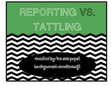 Reporting vs. Tattling Anchor Chart