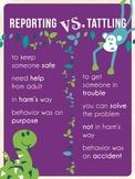 Reporting vs. Tattling Poster