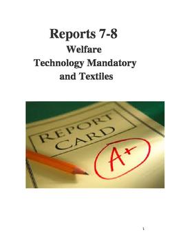 Reports 7-8 Technology Mandatory Welfare Food Textiles.