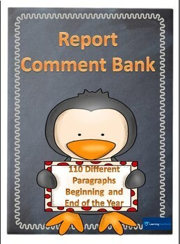 Reports Comment Bank - 110 Sample Comments: Beginning & End Year