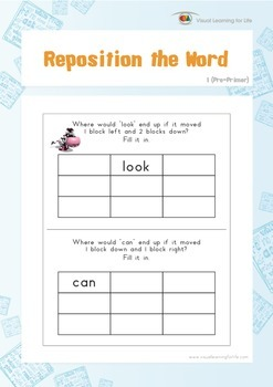 Reposition the Word (Pre-K)