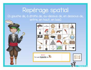 Repérage spatial (Les pirates)