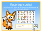 Repérage spatial (prépositions de lieux) animaux