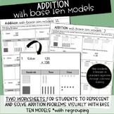 Represent Addition with Base Ten Block Models Worksheet