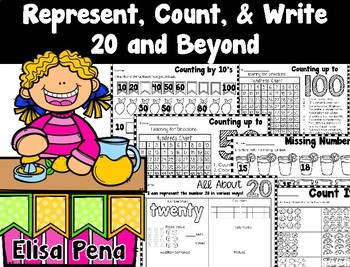 Represent, Count, & Write 20 and Beyond (Go Math Ch. 8)