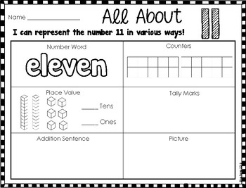 Represent, Count, and Write 11 to 19 (Go Math Ch. 7)