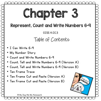Represent, Count and Write Numbers 6-9 Go Math